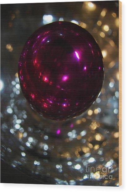 Purple Orb Wood Print
