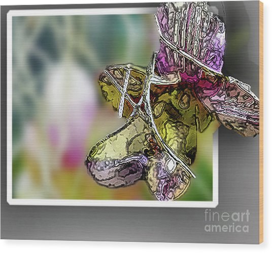 Purple Orchid Pop Wood Print