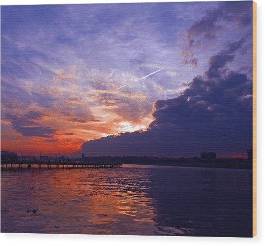 Purple Passion Skies Wood Print by Kendall Eutemey