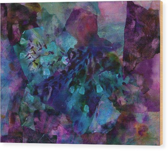 Purple Rain  Wood Print