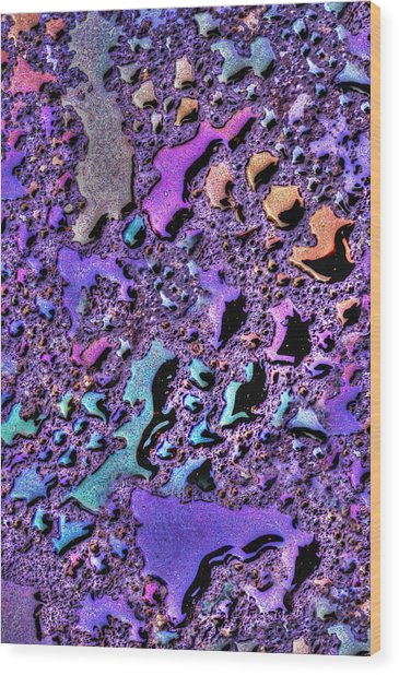 Purple Rain Wood Print