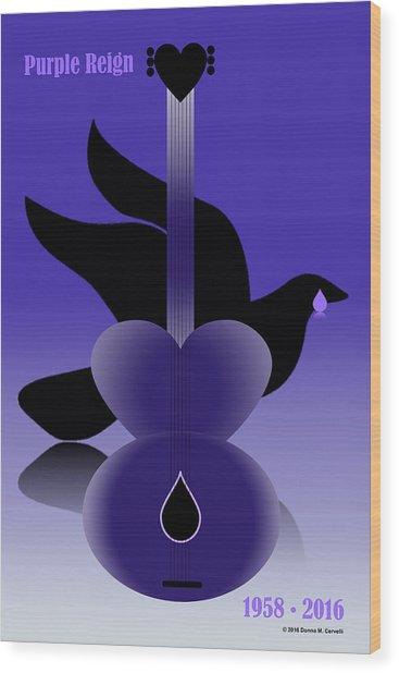 Purple Reign 1958-2016 Wood Print