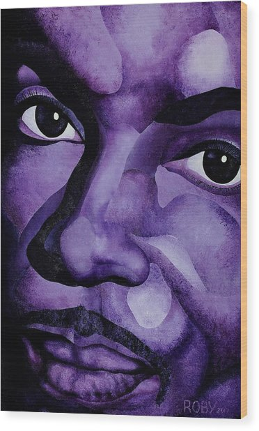 Purple Reign Wood Print