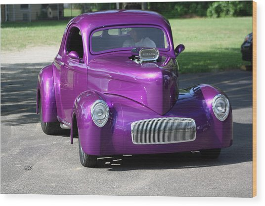 Purple Rod Wood Print by Jim Simms