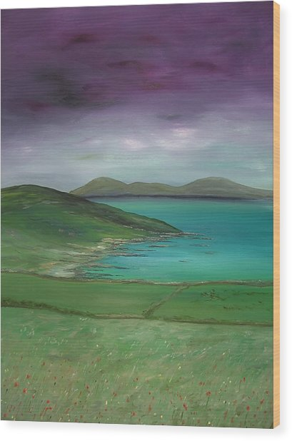 Purple Sky Over Donegal Wood Print by Maurice Noble