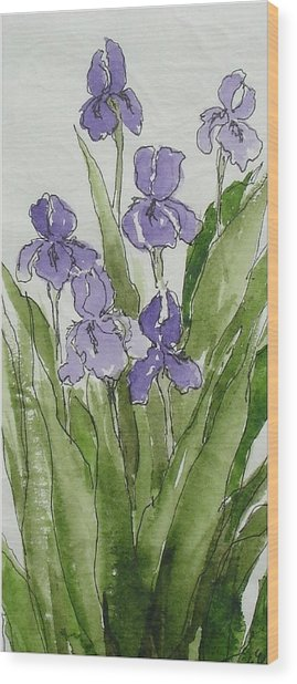 Purple Spring Wood Print