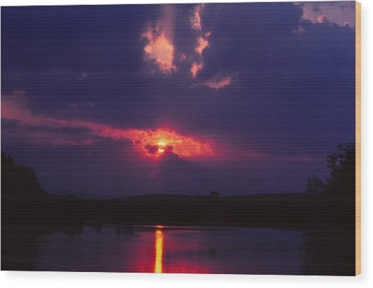 Purple Sunset Wood Print