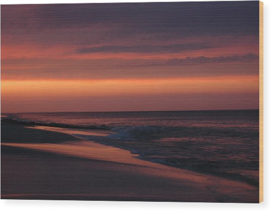 Purple Sunset Wood Print by See Me Beautiful Photography