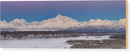 Purples Blue Wood Print