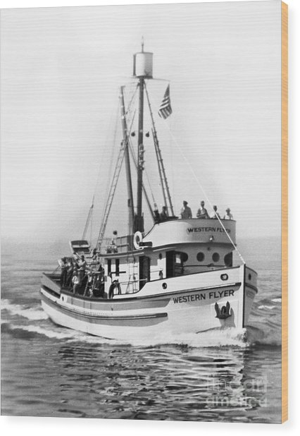 Purse Seiner Western Flyer On Her Sea Trials Washington 1937 Wood Print