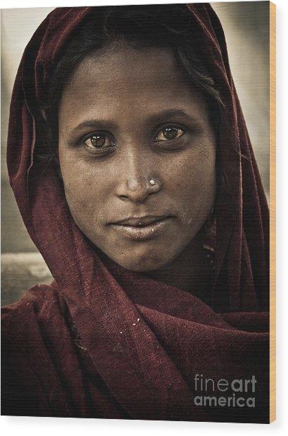 pushkar girl III Wood Print