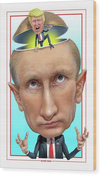 Putin 2016 Wood Print