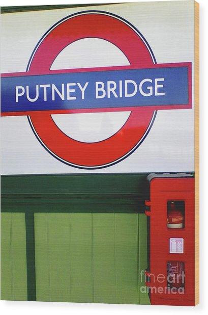 Putney Bridge Wood Print