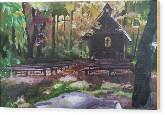 Pvm Outdoor Chapel Wood Print