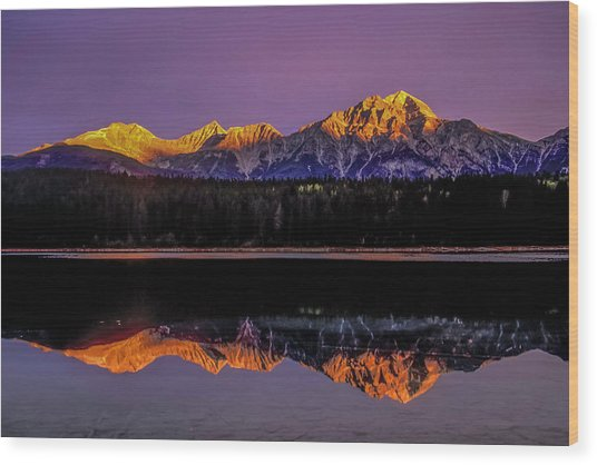 Wood Print featuring the photograph Pyramid Mountain 2006 01 by Jim Dollar