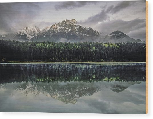 Wood Print featuring the photograph Pyramid Mountain 2006 02 by Jim Dollar