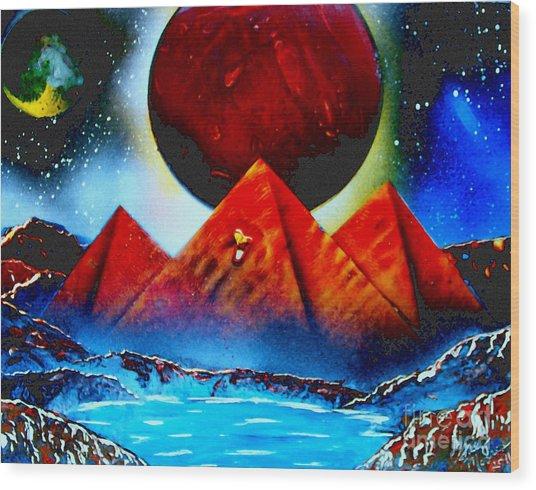 Pyramids 4663 E Wood Print