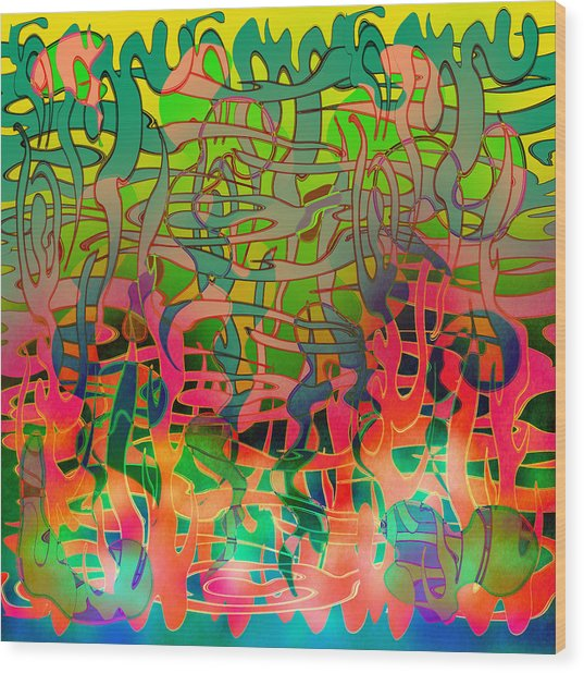 Pyschedelic Alba Wood Print by Grant  Wilson
