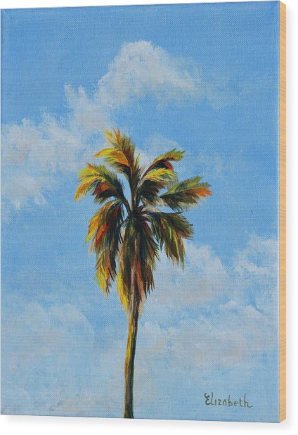 Quad Palms 3 Of 4 Wood Print by Beth Maddox