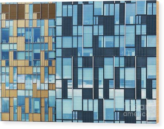 Quadrilateral Colour Wood Print