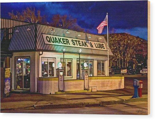 Quaker Steak And Lube Wood Print