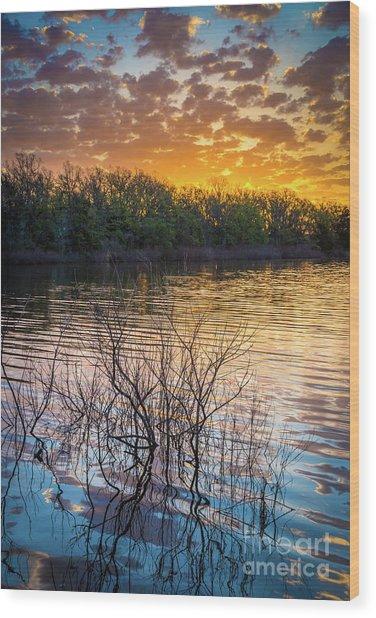 Quanah Parker Lake Sunrise Wood Print