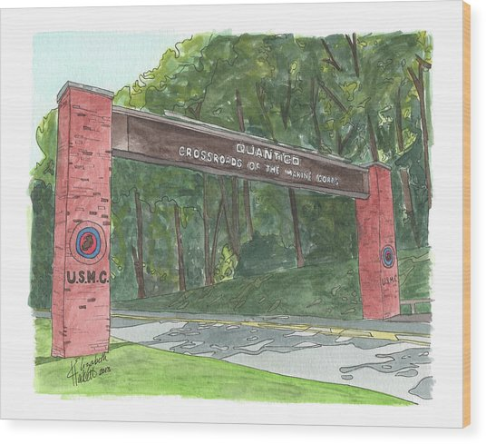 Quantico Welcome Wood Print