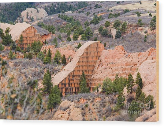 Quarry At Red Rock Canyon Colorado Springs Wood Print