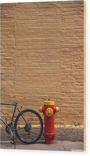 Quebec Hydrant Wood Print by Art Ferrier