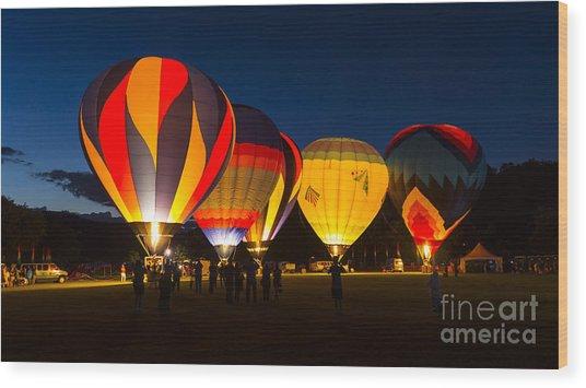 Quechee Balloon Festivial Wood Print