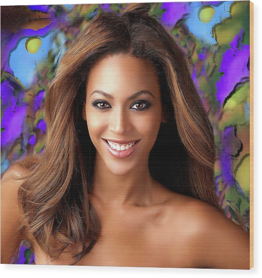Queen Beyonce Wood Print