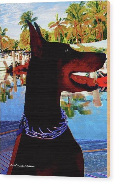 Queen Doberman Mia Poster Wood Print