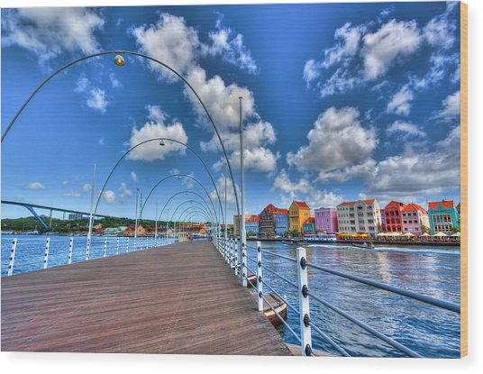 Queen Emma Bridge Wood Print