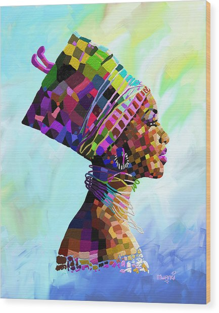 Queen Nefertiti Wood Print