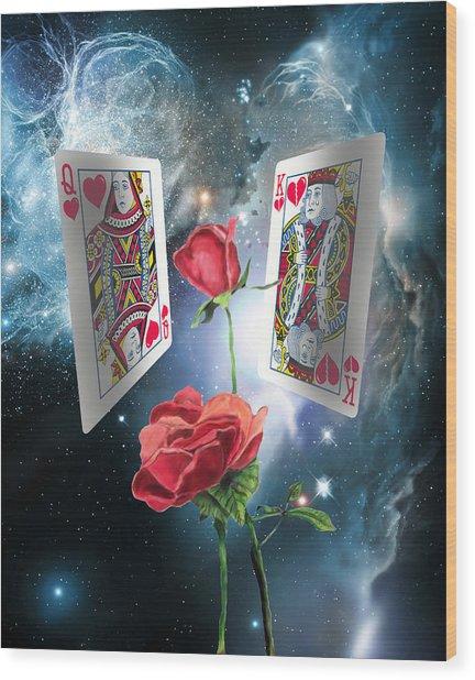 Queen Of Broken Hearts Wood Print