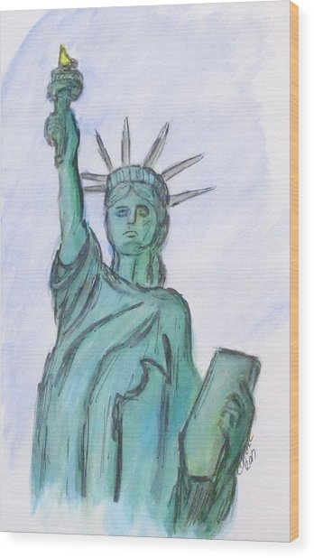 Queen Of Liberty Wood Print