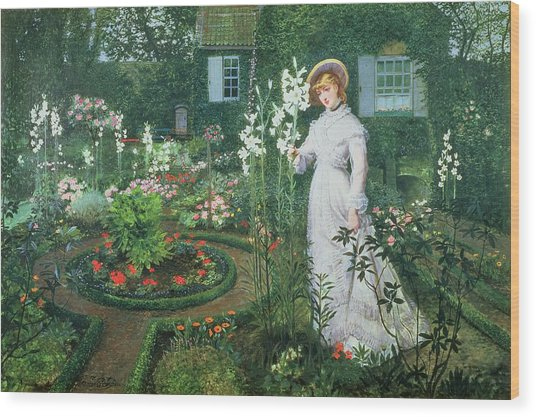 Queen Of The Lilies Wood Print