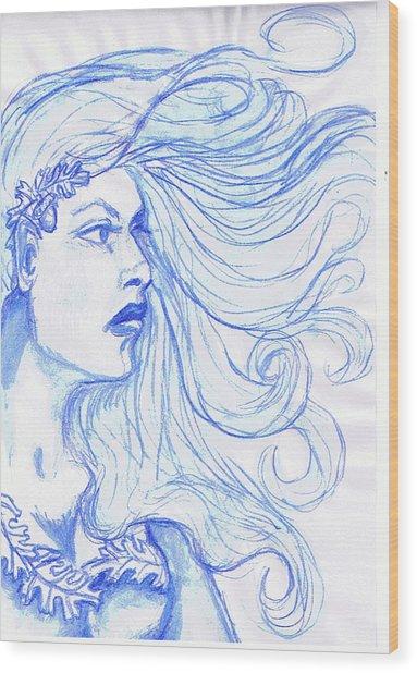 Queen Of The Wylders Wood Print
