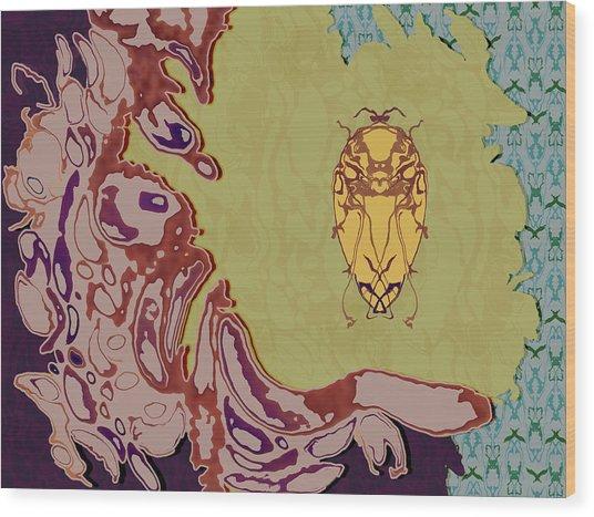 Queen Scarab Wood Print
