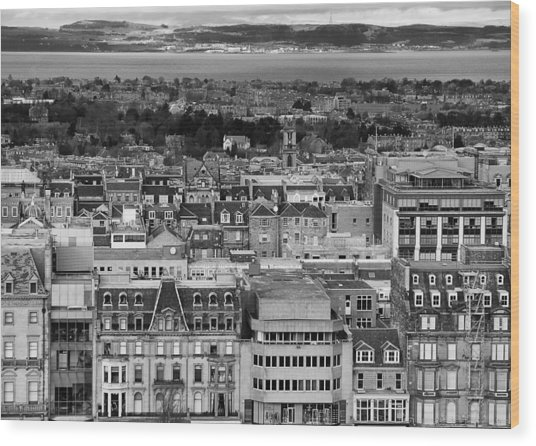 Wood Print featuring the photograph Queen Street To The Forth by Adrian Pym