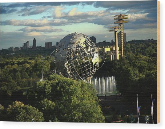 Queens New York City - Unisphere Wood Print