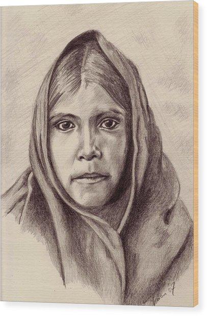 Quhatika Girl Wood Print