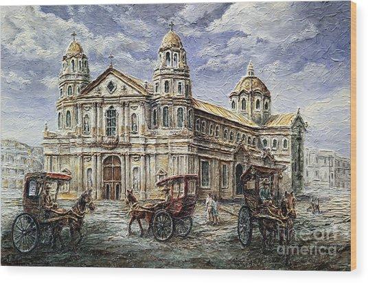 Quiapo Church 1900s Wood Print