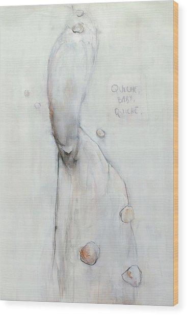 Quiche Baby Quiche Wood Print by Maarten Wydooghe