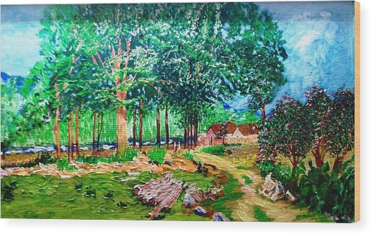Quiet Countryside Wood Print by Narayan Iyer