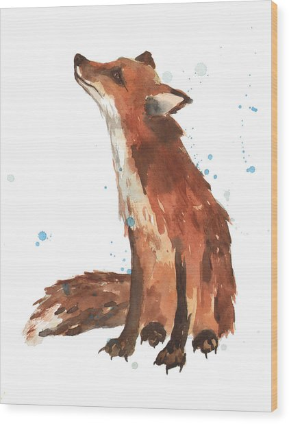 Quiet Fox Painting By Alison Fennell