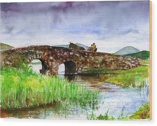 Quiet Man Bridge Ireland Wood Print