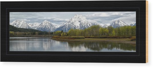 Quiet Morning At Oxbow Bend Wood Print