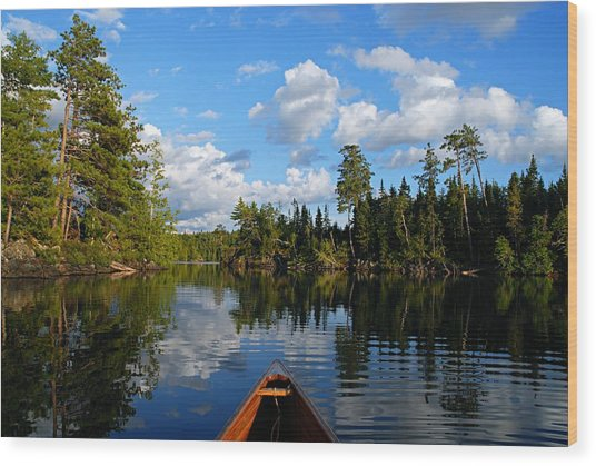 Quiet Paddle Wood Print