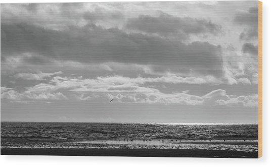 Quiet Shores After The Storm Wood Print